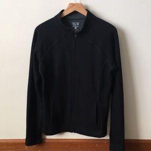 Mountain Hardwear black full zip fleece jacket L
